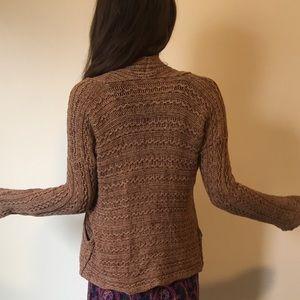 Free People Brown Knit Cardigan